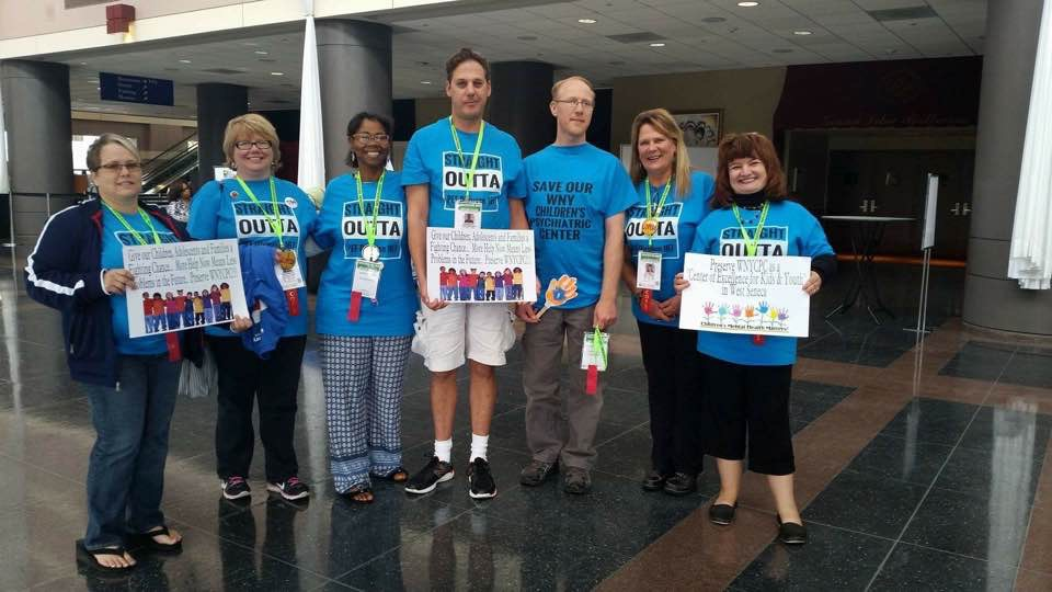 PEF Division 167 members who are also members of the Save our WNY Children's Psychiatric Center at the 38th PEF Annual PEF Convention
